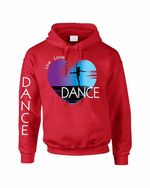 Adult Hoodie Dance Art Purple Print Love Cute Top Nice Gift - ALLNTRENDSHOP - 2