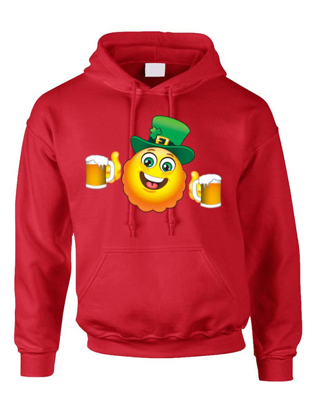Irish smiling Emoji ST patricks women hooded sweatshirt - ALLNTRENDSHOP - 5