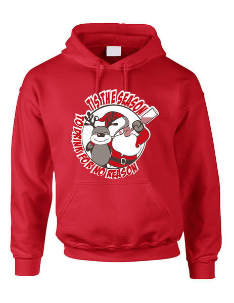 Adult Hoodie Tis The Season Drink No Reason Ugly Sweater - ALLNTRENDSHOP - 3