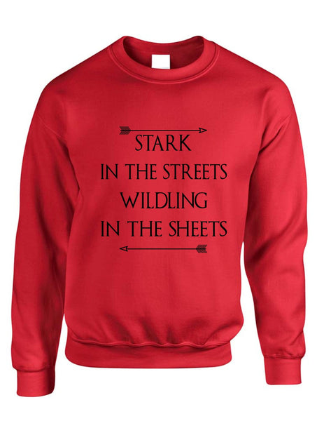 Stark in the streets wildling in the sheets womens Sweatshirt - ALLNTRENDSHOP - 4
