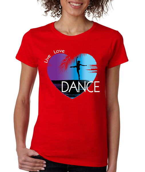 Women's T Shirt Dance Art Purple Print Love Cute Gift Nice Tee - ALLNTRENDSHOP - 4