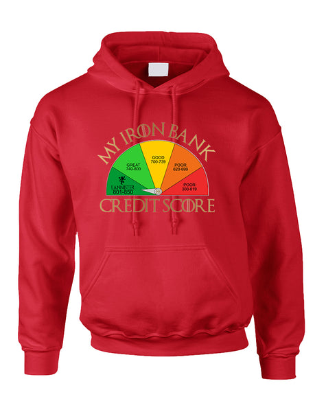 Adult Hoodie My Iron Bank Credit Score Lannister Cool Top