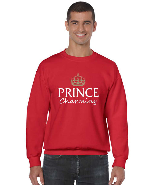 Men's Crewneck Prince Charming Cool Funny Humor Top - ALLNTRENDSHOP - 4
