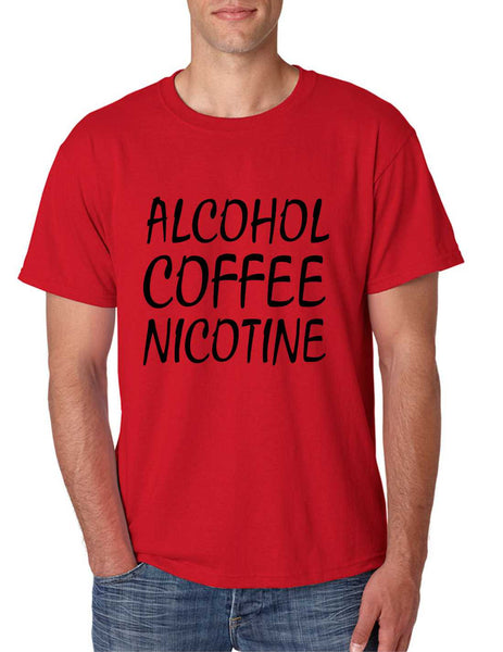 Men's T Shirt Alcohol Coffee Nicotine Cool Funny T Shirt - ALLNTRENDSHOP - 3