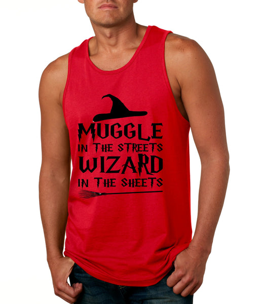 Men's Tank Top Muggle In The Streets Wizard In The Sheets Cool Top - ALLNTRENDSHOP - 5