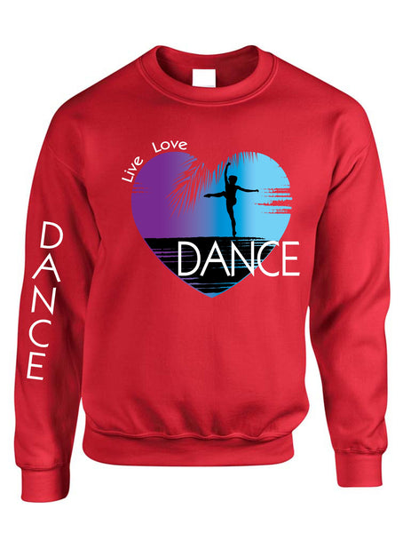 Adult Sweatshirt Dance Art Purple Print Love Cute Top Nice Gift - ALLNTRENDSHOP - 7