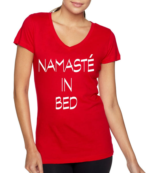 Namaste in bed Women's Sporty V Shirt - ALLNTRENDSHOP - 4