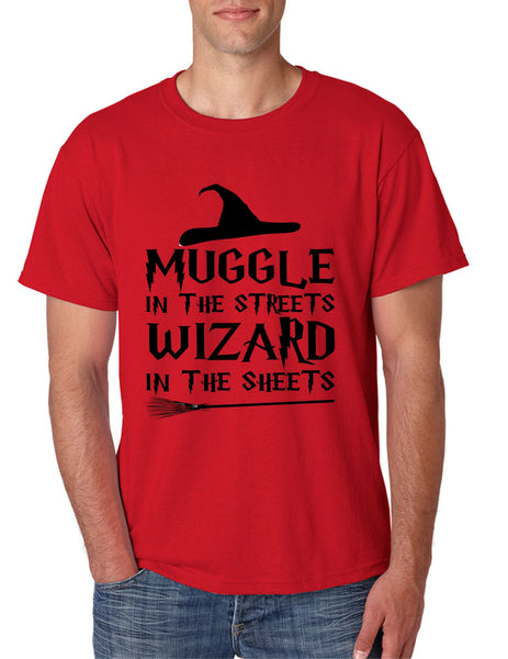 Men's T Shirt Muggle In The Streets Wizard In The Sheets Cool Tee - ALLNTRENDSHOP - 3