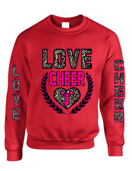 Love Cheer Leopard womens Sweatshirts - ALLNTRENDSHOP - 4