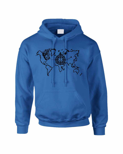 Adult Hoodie World Map Compass Cool Stuff Trendy Top - ALLNTRENDSHOP - 5