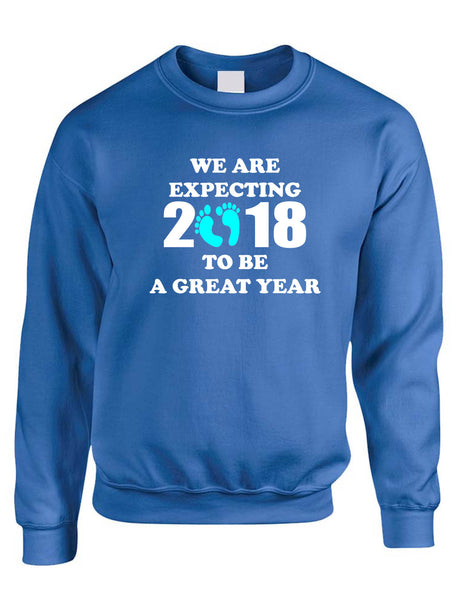 Adult Sweatshirt We Are Expecting Boy Pregnancy Reveal 2018 To Be