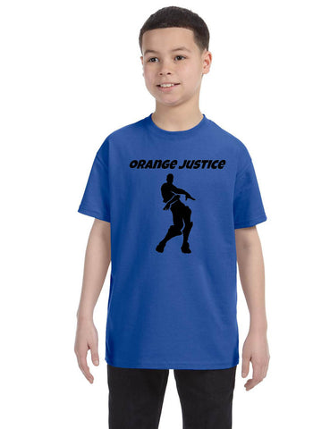 Kids Youth T Shirt Orange Justice Move Dance Trendy Dancing Gift