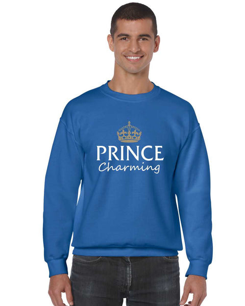 Men's Crewneck Prince Charming Cool Funny Humor Top - ALLNTRENDSHOP - 5