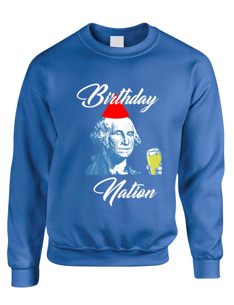 Adult Sweatshirt Birthday Nation Cool 4th Of July USA Party Top