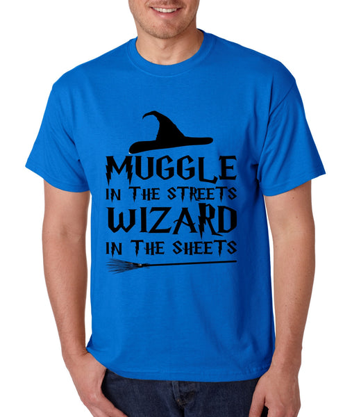 Men's T Shirt Muggle In The Streets Wizard In The Sheets Cool Tee - ALLNTRENDSHOP - 4
