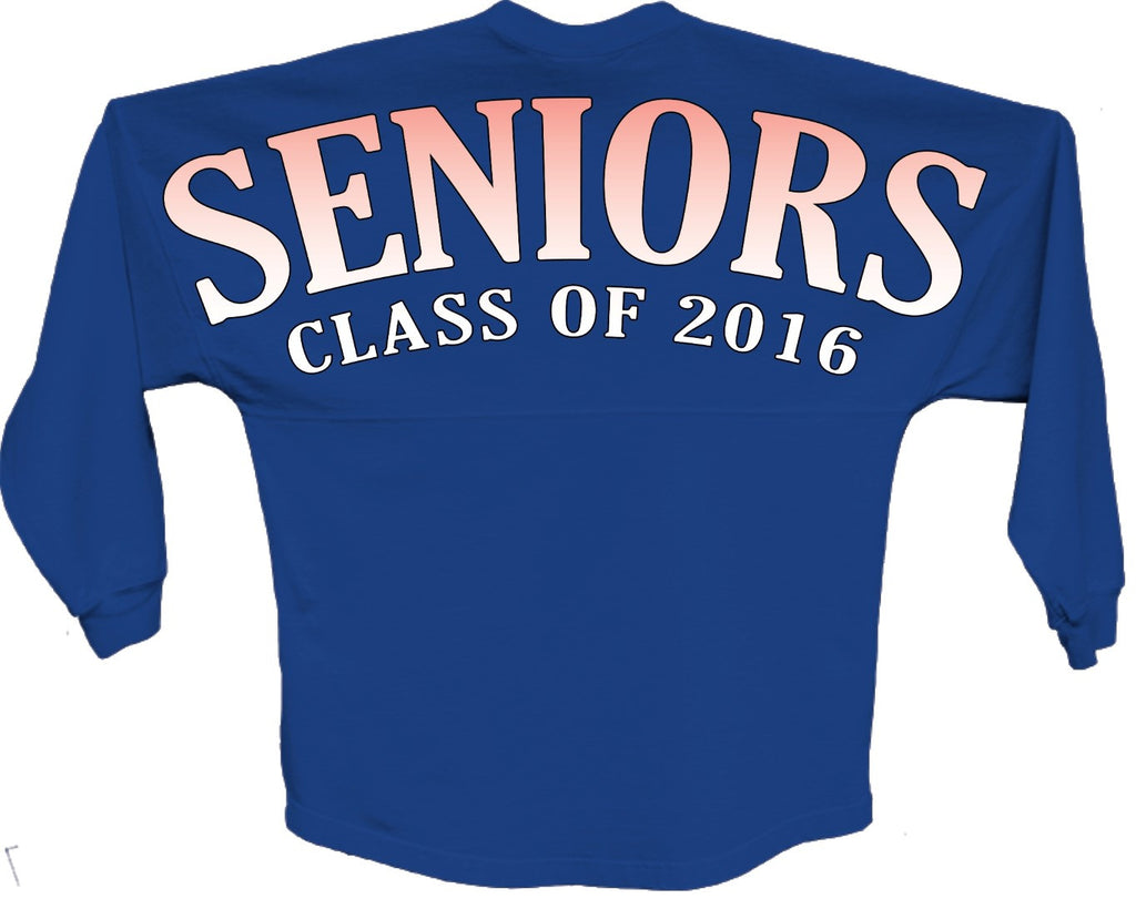 Seniors class of 2016 orange pom print J america shirt - ALLNTRENDSHOP - 1