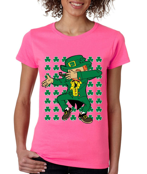 Dabbing Irish Leprechaun St patrick women t-shirt - ALLNTRENDSHOP