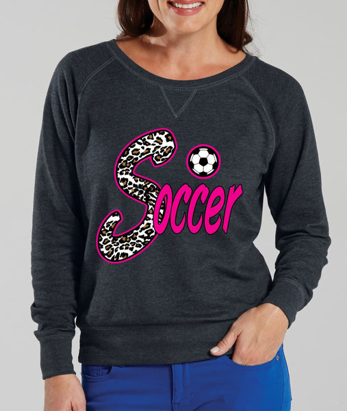 Soccer White Leopard women`s long sleeve Pullover - ALLNTRENDSHOP - 4