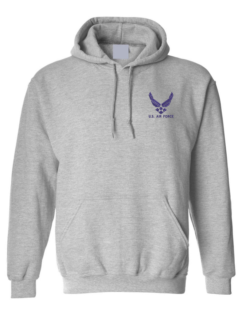 Adult Hoodie US Air Force Embroidered Military Love USA Army