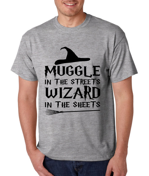 Men's T Shirt Muggle In The Streets Wizard In The Sheets Cool Tee - ALLNTRENDSHOP - 5