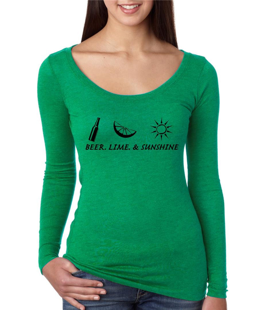 Beer lime and sunshine women long sleeve shirt - ALLNTRENDSHOP