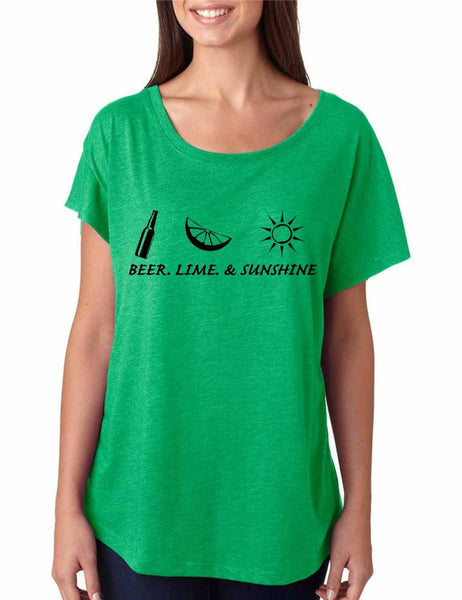 Beer lime and sunshine women tri-blend dolman shirt - ALLNTRENDSHOP