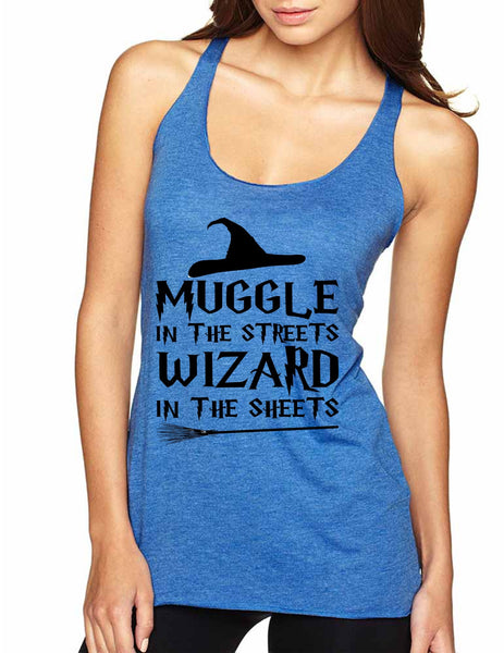 Women's Tank Top Muggle In The Streets Wizard In The Sheets - ALLNTRENDSHOP - 3