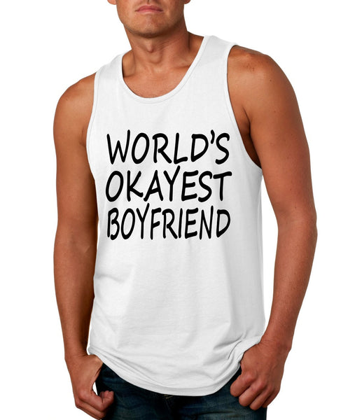 World's OKayest boyfriend men jersey tank top - ALLNTRENDSHOP - 5