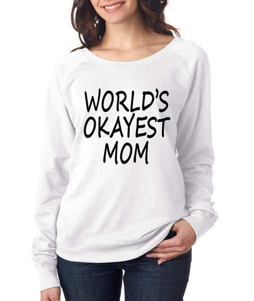 World's OKayest mom mothers day Women's Long Sleeve Shirt - ALLNTRENDSHOP - 4