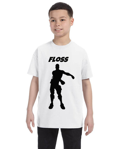 Kids Youth T Shirt Floss Black Trendy Floss Dance Tee Flossing Dancer