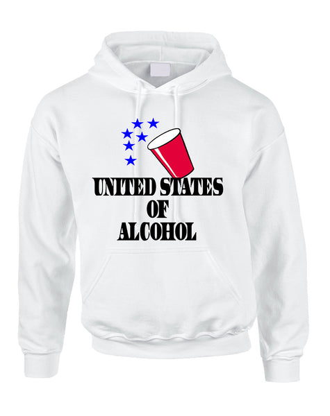 Adult Hoodie United States Of Alcohol 4th Of July Top