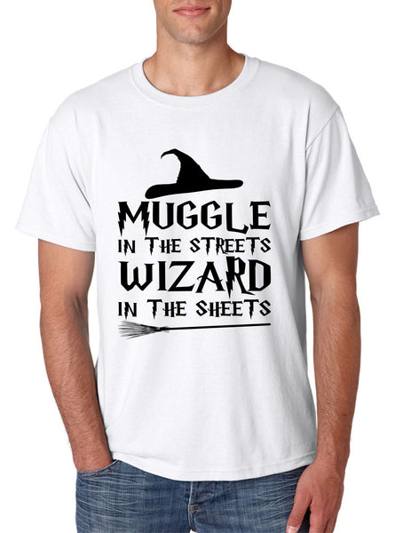 Men's T Shirt Muggle In The Streets Wizard In The Sheets Cool Tee - ALLNTRENDSHOP - 6
