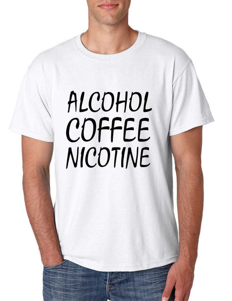 Men's T Shirt Alcohol Coffee Nicotine Cool Funny T Shirt - ALLNTRENDSHOP - 5