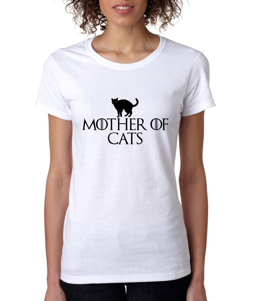 Mother of cats womens t-shirt