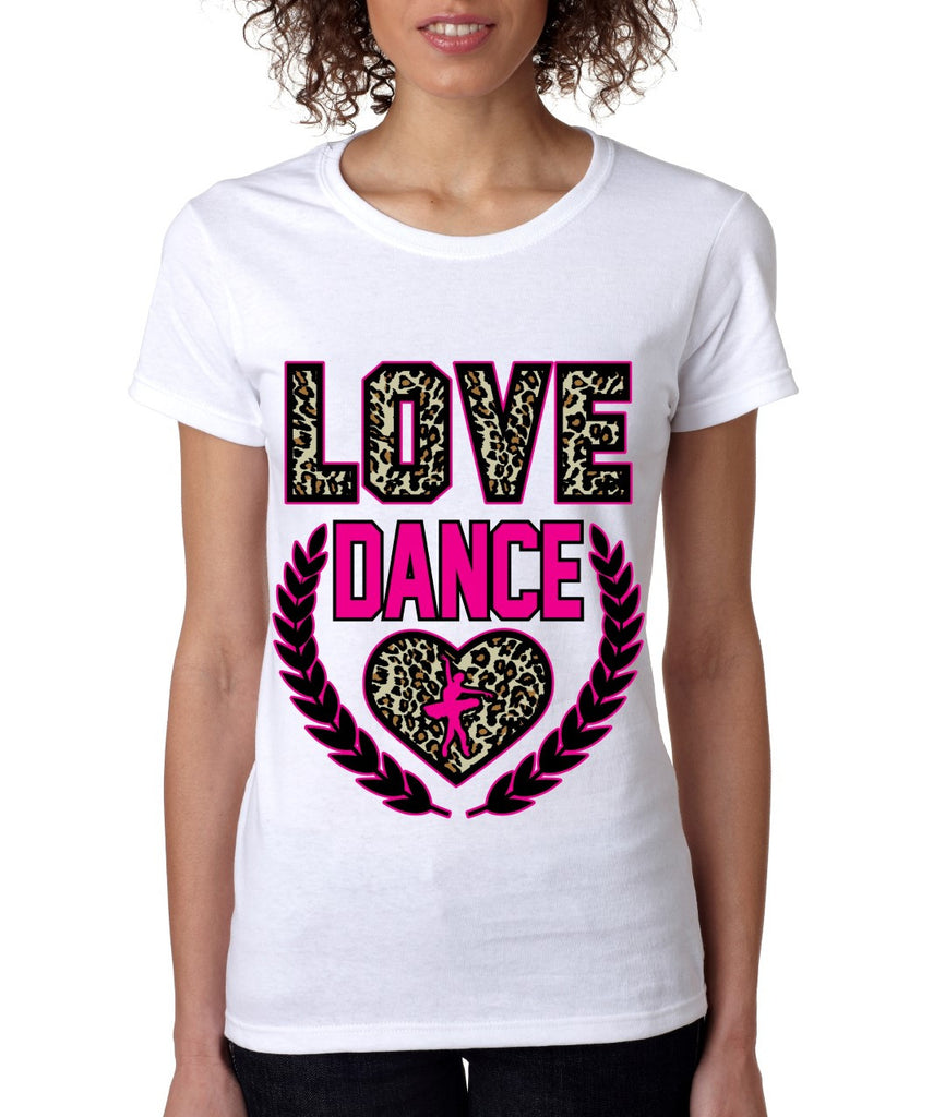 Love Dance Leopard womens T-Shirts - ALLNTRENDSHOP - 1