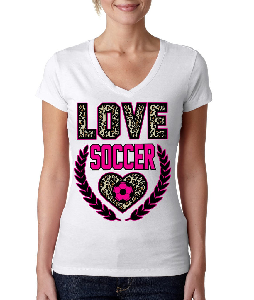 Love Soccer Leopard Womens Sporty V - ALLNTRENDSHOP - 1