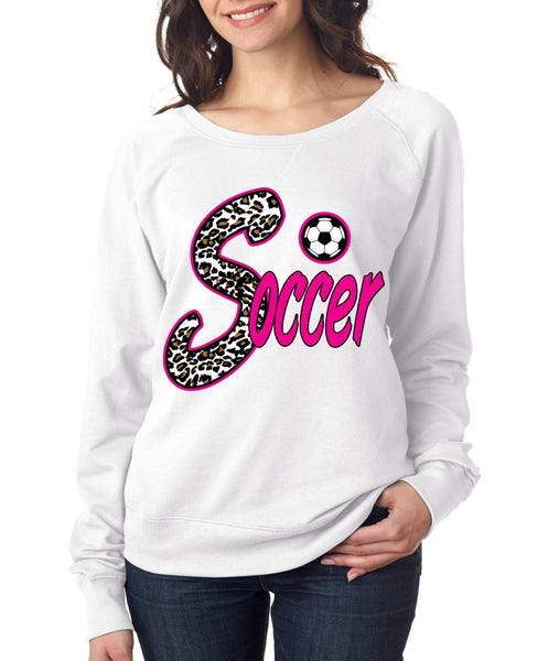 Soccer White Leopard women`s long sleeve Pullover - ALLNTRENDSHOP - 5