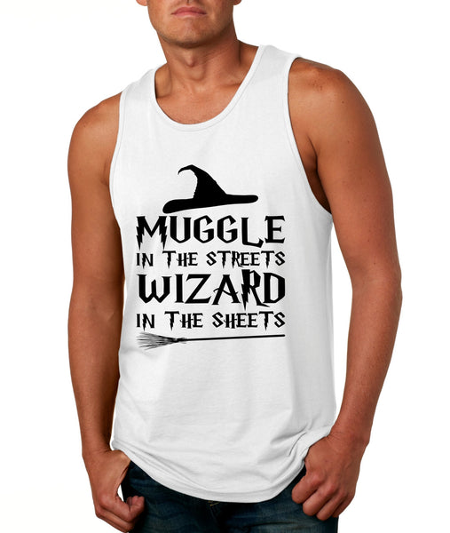 Men's Tank Top Muggle In The Streets Wizard In The Sheets Cool Top - ALLNTRENDSHOP - 1