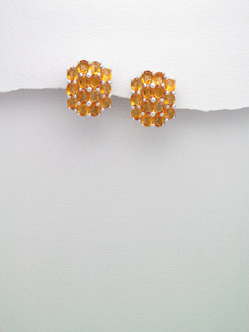 Madeira Citrine Sterling Silver Earrings