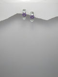 Purple and Green Amethyst Sterling Earrings