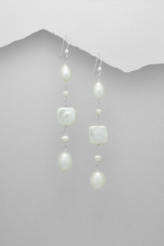 Multi Shape Freshwater Pearl Earrings