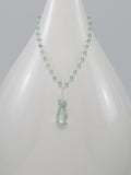 Green Amethyst and Apatite Sterling Silver Necklace