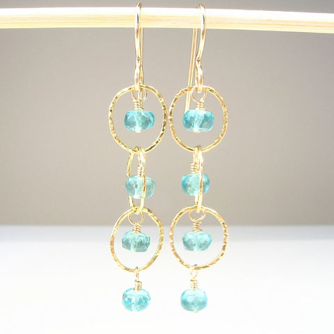 Apatite Gemstone Earrings