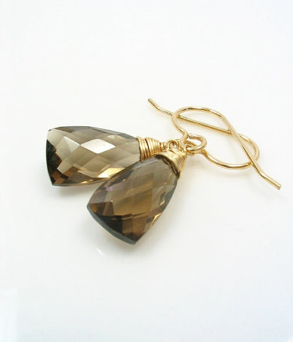 laguna handmade smokey buy earrings products jewelry brown quartz drop hand beach mg
