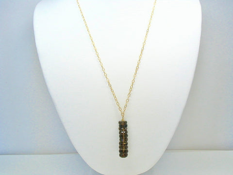 Smoky Quartz Long Necklace