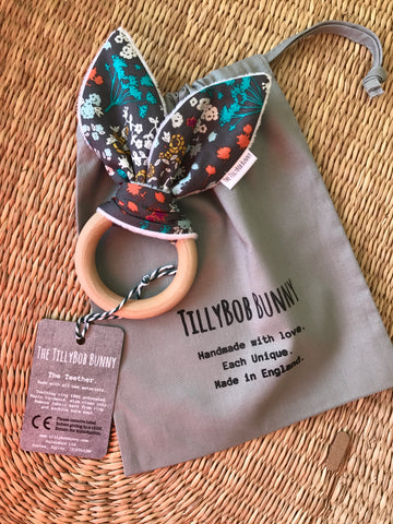 SALE. TillyBob Teether - Meadow Floral