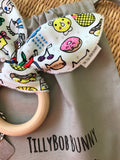 SALE. TillyBob Teether - Funny Faces