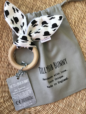 SALE. TillyBob Teether - Stockbroker