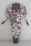 TillyBob Bunny - multi colour geometric