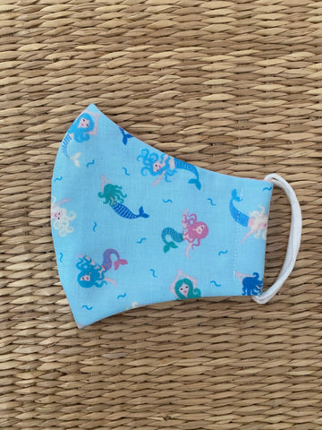 BACK IN STOCK! Cotton Face Mask - CHILD - mermaids